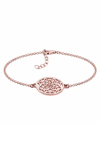 Elli Germany gold Elli Germany 925 Sterling Silver Rosegold-Plated Dreamcatcher Bracelet EL474AC19PPGMY_1