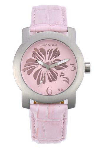 EGLANTINE silver EGLANTINE® Bauhinia Ladies Steel Quartz Watch on Pink Leather Strap 87CD3AC10FBFDEGS_1