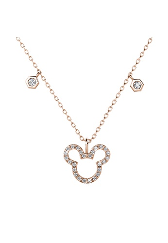 Her Jewellery gold Mickey Pendant (Rose Gold) - Made with Premium grade crystals from Austria 35E5AACE20EF25GS_1