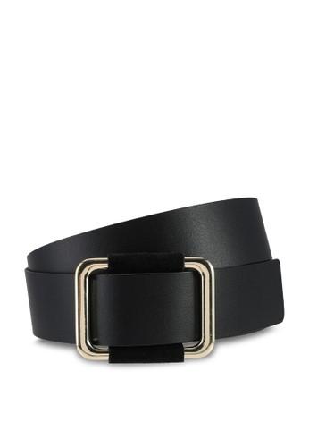 Pieces black Luna Leather Jeans Belt DD912AC531DBB5GS_1