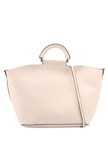 Mango beige Pocket Shopper Bag 74CE1AC1FA897BGS_1