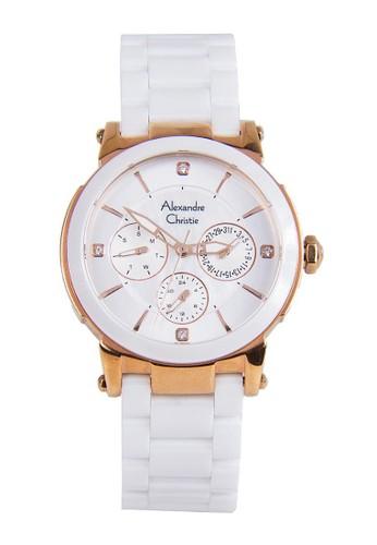 Alexandre Christie white Alexandre Christie Jam Tangan Wanita - White  Rosegold - Stainless Steel - 2517 364b90e3dd