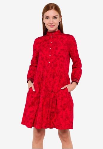 Tommy Hilfiger red Cny Knee Length Dress F2D31AA4267A93GS_1
