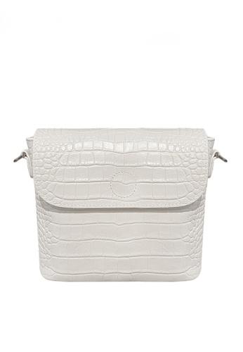 Twenty Eight Shoes white VANSA Retro Crocodile Leather Crossbody Bag VBW-Cb9930 E3327AC2DEB98EGS_1