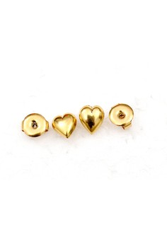 14K Gold Filled Heart Earrings