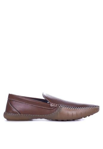 Mendrez brown Alfie Loafers & Moccasins ME992SH60ZUXPH_1
