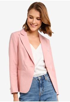 af8c1628bd428 Miss Selfridge pink Petite Pink Open Weave Blazer 0DF6EAA4B57BCAGS 1