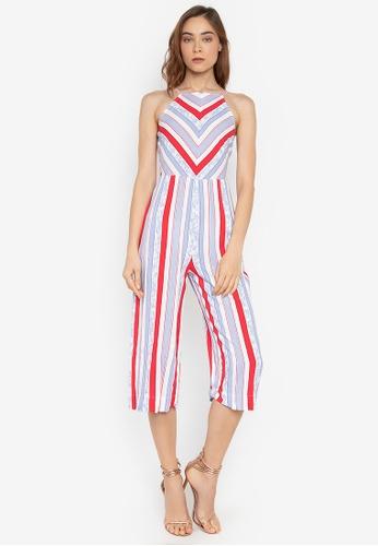 5adc22eddf9 Shop Twenteen Stripes Halter Jumpsuit Online on ZALORA Philippines