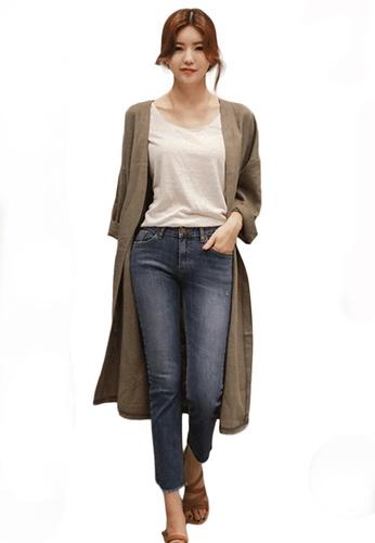 Sunnydaysweety beige Cotton and Linen Loose cutting Coat A21031916KI 17A33AA3B4A6BBGS_1