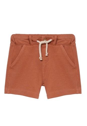 MANGO BABY orange Organic Cotton Bermuda Shorts C7606KAC354E23GS_1