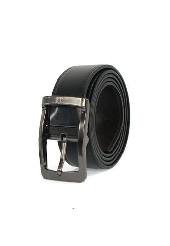 Condotti black Condotti Leather Long Belt Reversible 13424 - Black / Coffee 5A1C7ACCA82BD8GS_1