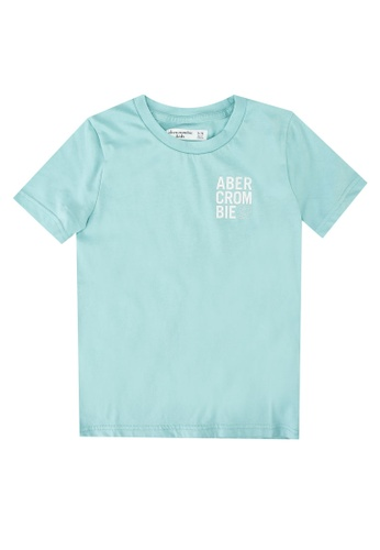 Abercrombie & Fitch blue Tropical Print Logo T-Shirt 03C6FKA3A6E833GS_1