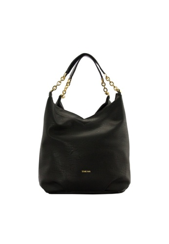 SEMBONIA black SEMBONIA Synthetic Leather Hobo Bag (Black) B3317ACC827C8EGS_1