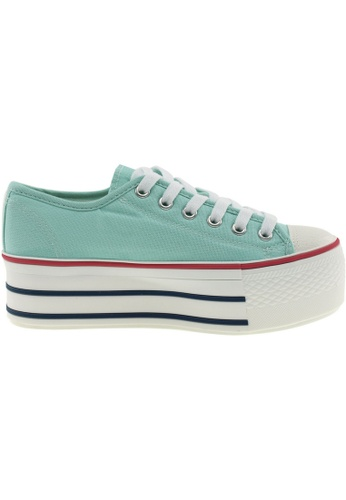 Maxstar green Maxstar Women's C50 6 Holes Platform Canvas Low Top Sneakers US Women Size MA164SH25PPMSG_1