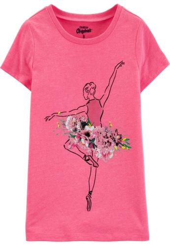 Oshkosh B'gosh pink OSH KOSH Girl Pink Ballerina Graphic Tee 5E580KA4084FADGS_1