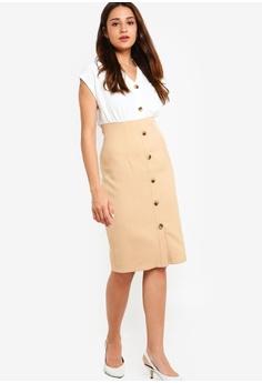 405207c19d8 49% OFF ZALORA Button Detail Sheath Dress RM 125.00 NOW RM 63.90 Sizes L XL