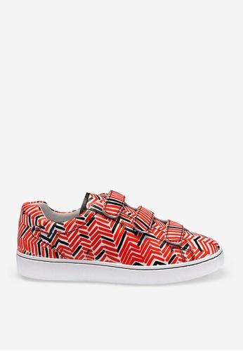 ASH 黑色 and 紅色 Pharell Tweed - 米灰色印花運動鞋 3166ESH91395DCGS_1