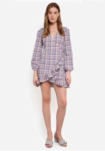 The Fifth Label multi Phonic Tartan Wrap Dress 789C3AAD63C76AGS_1