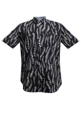 SHARKS black Floral Short-Sleeves Shirt A1CD9AAAAA0C3DGS_1