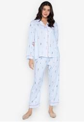 FEMINISM blue Longsleeve PJ Set 39B05AA828F140GS_1