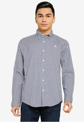 Abercrombie & Fitch blue Icon Signature Shirt 6A812AAE51AA59GS_1