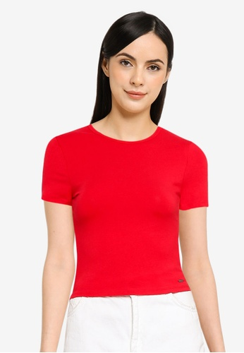 Hollister red Casual Tee 64F98AA70813DCGS_1