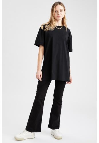 DeFacto black Woman Knitted Short Sleeve Tunic 426EDAAF581FEFGS_1