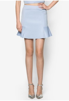 Love Printed Floral Side Flare Skirt
