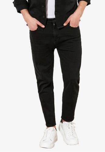 Trendyol black Slim Fit Cropped Jeans 3D3EDAA50AE64CGS_1