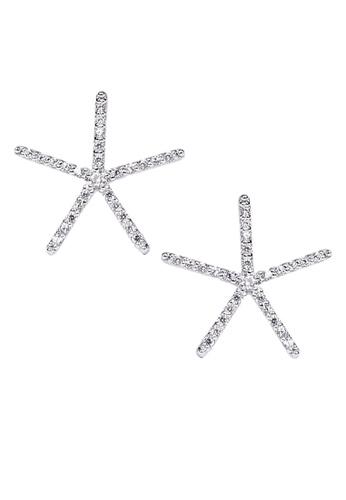 The LoveMark silver Starfish Silver Earrings TH516AC72VRZPH_1