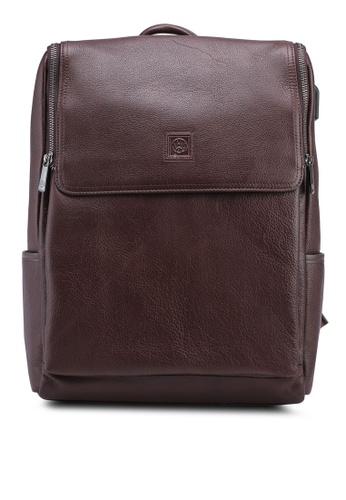 Volkswagen brown Volkswagen Genuine Leather Backpack E26E1AC3254968GS_1