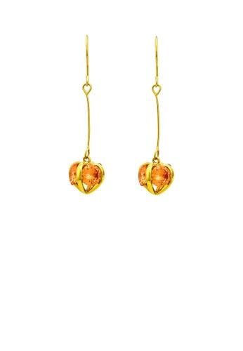Glamorousky yellow Enchanting Fruity Earrings Yellow Austrian Element Crystal D5CDEACBAAE2C0GS_1