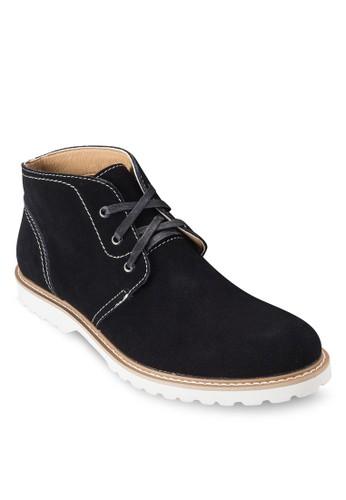 三眼繫帶麂皮短靴, 鞋esprit 童裝, 鞋