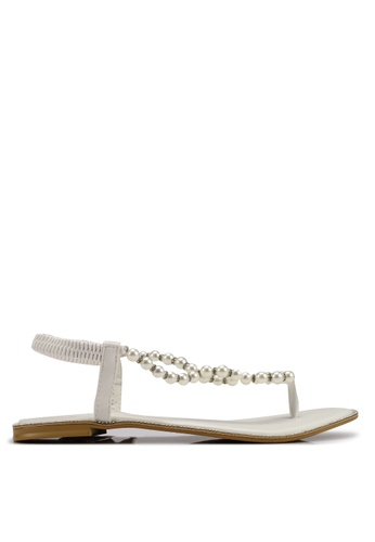 BETSY 白色 珍珠涼鞋 18895SHB637DB7GS_1