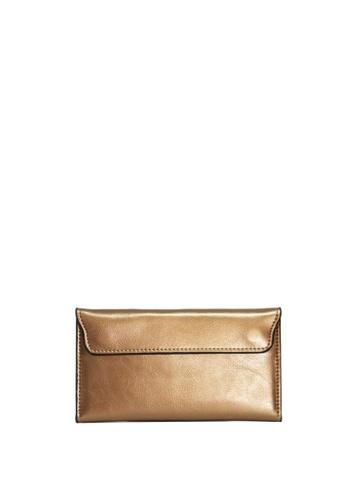 Dazz Calf Leather Flap Magnetic Wallet - Bronze DA408AC28VPRMY_1