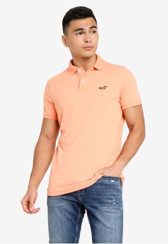 Hollister orange Core Polo Shirts 72F87AABF52C38GS_1