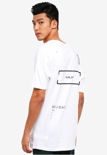 Cotton On 白色 長版文字印花T恤 C2C8FAAE81C7EAGS_1