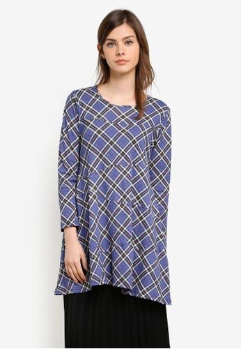 Aqeela Muslimah Wear blue Basic Top AQ371AA0S4WAMY_1