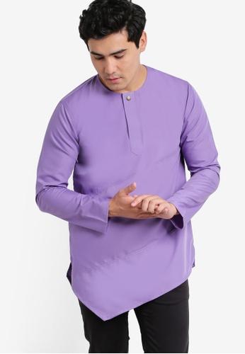 Amar Amran purple Kurta Al Fattah AM362AA77JWWMY_1