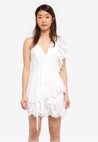Bardot white Frill Shoulder Dress BA332AA0ST96MY_1