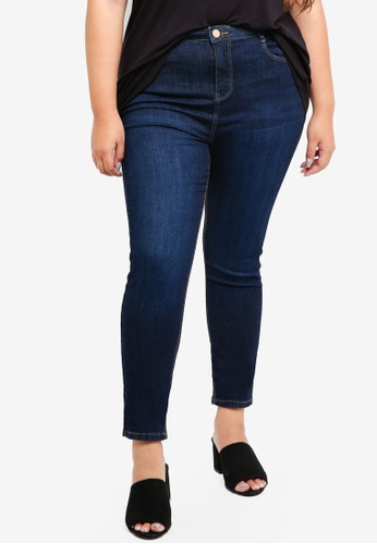 Dorothy Perkins blue Plus Size Indigo Shaping Jeans 99CB7AA3B1FB7EGS_1