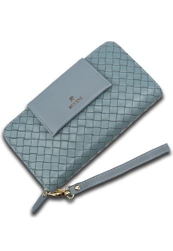 RUCINI blue Rucini Ladies Long Zip Wallet Flap Front 2DB32AC4C7BA6EGS_1