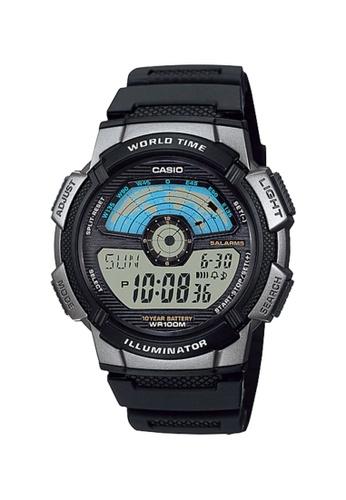 Casio black Casio Men's Digital AE-1100W-1AVDF Black Resin Band Sport Watch A689CACC69C98CGS_1