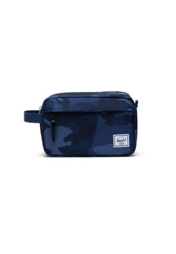 Herschel blue and multi Herschel Unisex Chapter Travel Kit Peacoat Camo - 5L 4A08EAC6A19500GS_1