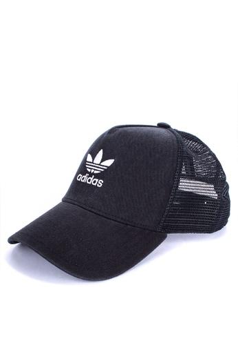 3fa0fdbcfe3 adidas black adidas originals trefoil trucker cap 71887AC87CE9E5GS 1