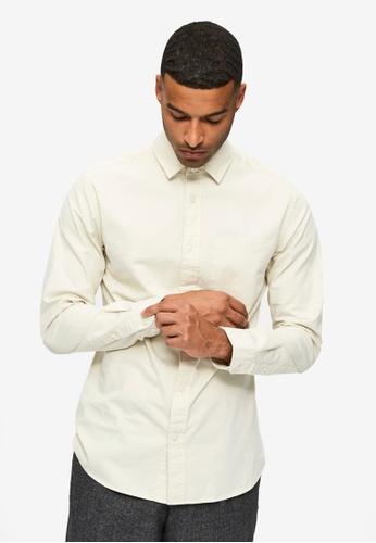 Selected Homme white Austin Solid Long Sleeves Shirt C5E29AA5F2E725GS_1
