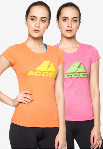 ACCEL orange Basic Logo Baby Tee 9B39DAA7A7A347GS_1