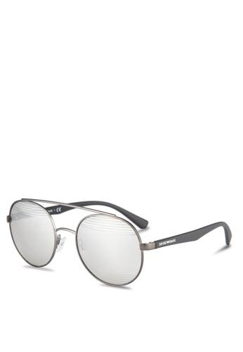 Emporio Armani grey Emporio Armani EA2051 Sunglasses EM212GL0RNIOMY_1