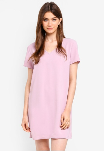 Something Borrowed pink Cross Back Shift Dress 1AE49AA1B9EB86GS_1
