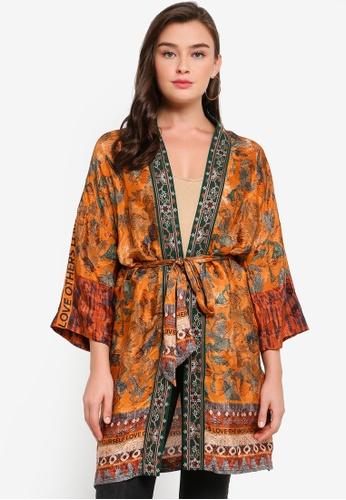 Desigual orange Sabana Kimono 49D16AA311DB14GS_1